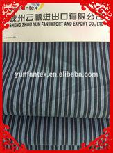 2015 fashion latest Italy design pattern cotton poplin white blue stripe shirt fabric