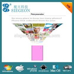 Customized Design Business card wifi usb flash drive wireless smartphone crystal usb stick