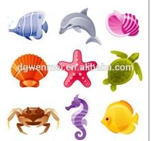 2015 Custom water transfer body art sea life temporary tattoo sticker