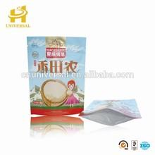 Top zipper paper food packaging bag & kraft paper snack food packaging bag
