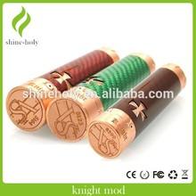 Vendita calda rosso verde nero scuro in fibra di carbonio cavaliere mod meccanico vape batteria mods vaporizzato clone 1:1 e cig china wholesale