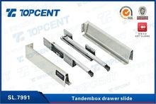 cold roller steel side mounted undermount soft close seat drawer slide damper