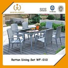 Outdoor Garden Cheap Rattan Furniture Dinning Set