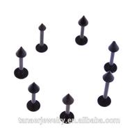 2015 wholesale septum piercing titanium skeleton lip ring