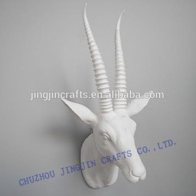witte herten hoofd wanddecoratiedier hoofd muur opknoping