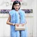 2014 nuevo de la moda de alta calidad de piel de zorro chaleco/caliente deinvierno de piel de zorro chaleco/genuino damas capa de zorro