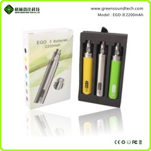 Big capacity light&Slim 1 week gs ego ii 2200mah battery new vapor hot sale 2200mah battery for electronic cigarette