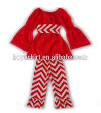 أزياء جديدة تصل 2015 ملابس الأميرة كشكش زهرة شيفرون مجموعات الملابس بانت لمجموعات 0-7 سنوات من العمر الفتيات