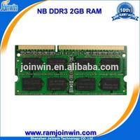 Low density Lifetime warranty 1 piece ddr3 2gb ddr 1333 laptop memory