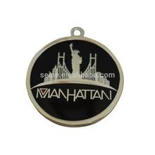 personalizar su singular de metal logotipo de estados unidos clave de la cadena llavero estatua de la libertad colgante