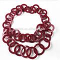 grande de acrílico collar de enlace rojo collar de la joyería de moda