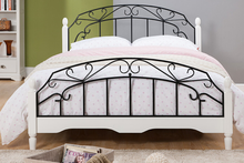 2015 New design metal bed wood leg/queen bed/double metal bed with wood posts