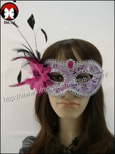 well-bred halloween party supplies colored drawing masks bring flower feather mask pointed toe belt feather mask