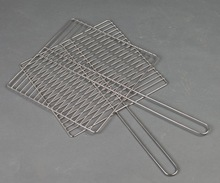 china supplier with hand shank stainless steel barbecue grill wire net mesh