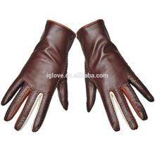 Fashion women sheep leather dress gloves