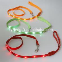 promotion custom led leash glow led dog pet leash led