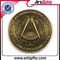 Promotion cheap 3D customized honor souvenir coins distributor
