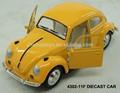 Liga modelo de carro Diecast Toy Car para a coleta VW Beetle puxar para trás Wecker carro roda de liga brinquedo