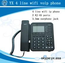 wireless voip phone 4 lines, wifi sip desk phone 4 sip accounts POE, iax2 ip phone