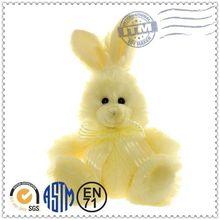 Promotion gift custom design long ear soft toy rabbit pattern