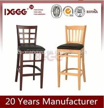 wholesale European solid beech wooden bar stool