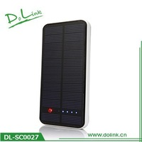 Imported polymer battery single crystal silicon super slim dual usb 11200mah solar charger power bank