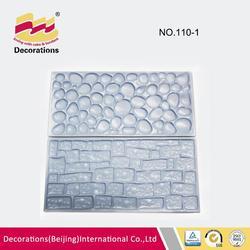 2015 new hot sale popular fondant cake decoration stone,wall impression mat texture mold