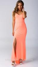 2015 Summer Women Halter Slit Pink Names of Dresses Styles