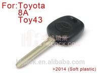 Original car key soft plastic for toyota H chip transponder key type: 8A for toyota H chip key