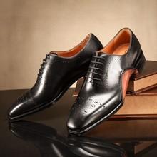 De gama alta de hombre de la capa superior de zapatos de cuero de cuero de gama alta por encargo de hombre zapato de vestir