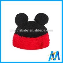 Lovely Minnie Baby Crochet Santa Hat Crochet Knitting Child Hats Newborn Photo Props For Baby