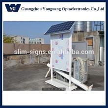 outdoor solar light box/Double Sided waterproof advertising solar light box
