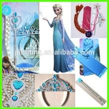 Alibaba Express Hot Sale Frozen Elsa Wig Wand Crown Set Frozen Party Supplies