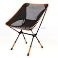 en forma de luna portátil al aire libre de aluminio silla plegable