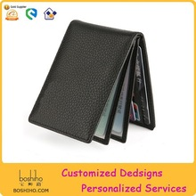 Promotion Black Leather business case/high quality leather business card holder