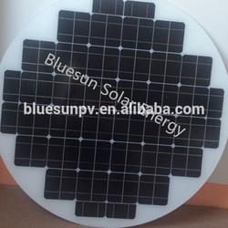 Bluesun high quality best price 90W polycrystalline round solar panel
