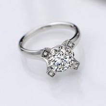 2015 New Wholesale Wedding Ring &Platinum Plated Round Cut Diamond Rings Women Finger Ring