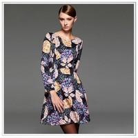 Customized digital printing polyester spandex/elastane fabrics for tops or dress