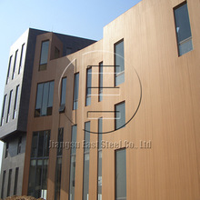 wood color coated PPGI PPGL for embossed insulated wall cladding