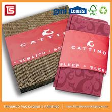 Custom China Style Corrugated Cat Scratcher Cat Rest Bed Pet Toy