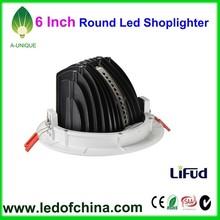 SAA CE ROHS 6 Inch Led Shop Lighter/30w round lighter/Adjustable led retrofit downlights