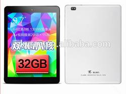 9.7'' tablet pc Cube T9 MT8752 octa core 3G Dual 4G Dual camera 2.0MP 13.0MP WIFI Bluetooth OTG Cube T9GT Tablet
