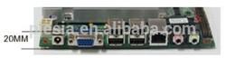 main board thin client htpc case mini itx case with 6*USB/1* DC-12V power supply/1* RJ45 port/1*VGA