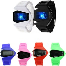 Waterproof Military Airplane Kids Digital Watch LED Sports Wrist Watch Alarm