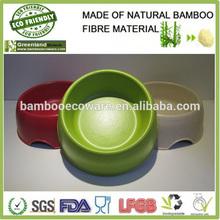 greenland bamboo fibre eco friendly bright colors bowl pet pot dog bowl bird bowls