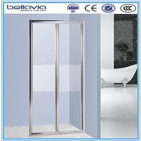 glass shower bathroom entry doors folding screen 6493