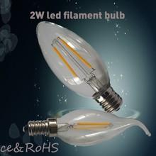 christmas light 2300K-6000K 1w 2w 3w G45 E26 E27 glass cover led filament bulb led light bulb