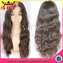 2015 heavy density body wave 100% brazilian virgin human hair lace front wigs