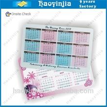 Shenzhen PVC/Paper Calendar card manufacturer