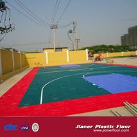 Jianer Outdoor PP Interlocking Plastic Basketball Flooring
